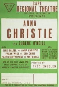 1962 (ca.): Affiche voor Anna Christie (Eugene O'Neill), Cape Regional Theatre © Archief Tine Balder en Fred Engelen in Letterenhuis, Stad Antwerpen: (lhps:49405)